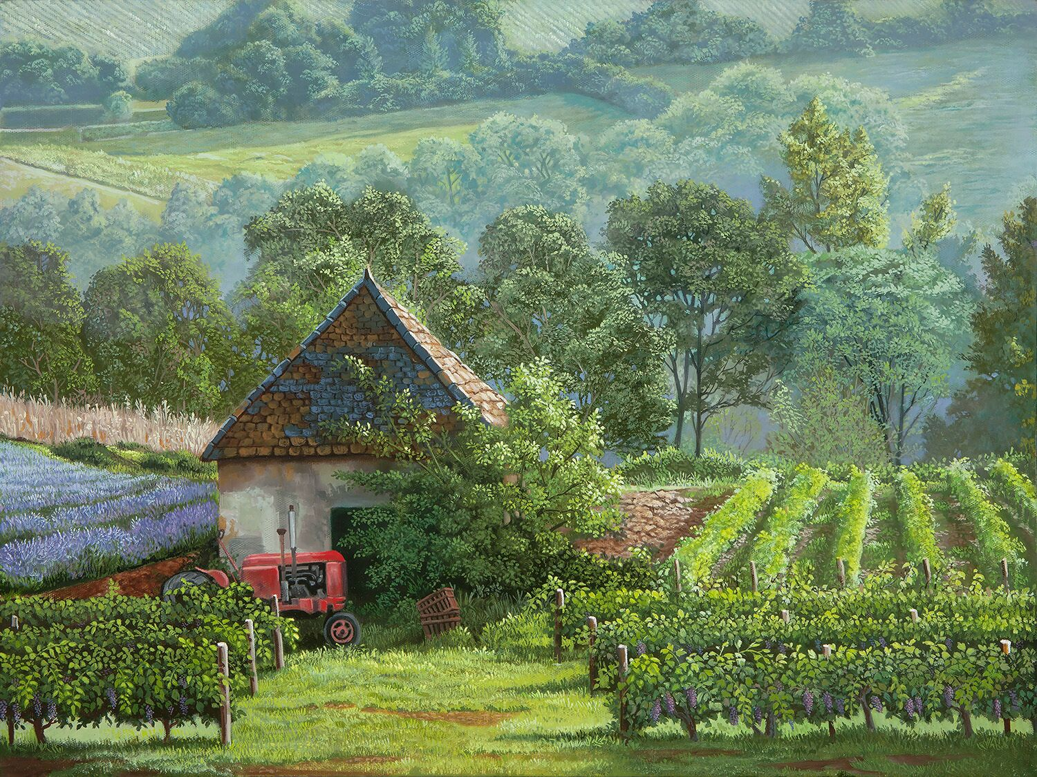 Provence painting by Michael R. Nelson