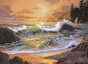 Northwest Sunset painting by Michael R. Nelson