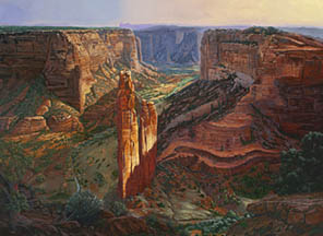 Sunset at Spider Rock painting by Michael R. Nelson