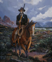 The Guardian by Candlelight painting by Michael R. Nelson