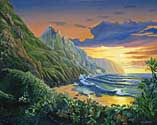 Napali Sunset (Oil)